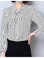 cheap -Women's Holiday Basic Blouse - Striped V Neck