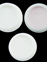 economico -3pcs Cipria trasparente Polvere acrilica Strumento per unghie
