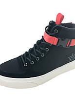 abordables -Homme Chaussures Microfibre Printemps Automne Confort Basket Boucle pour Décontracté De plein air Blanc Noir