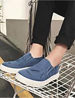 Недорогие -Муж. обувь Полотно Весна Осень Удобная обувь Мокасины и Свитер для Повседневные Оранжевый Серый Синий