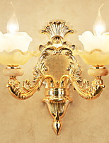 cheap -Crystal Rustic / Lodge Wall Lamps & Sconces / Bathroom Lighting Living Room / Bedroom / Bathroom Metal Wall Light 220-240V 20W