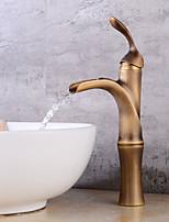 cheap -Contemporary Centerset Waterfall Ceramic Valve Single Handle One Hole Antique Copper, Faucet Set