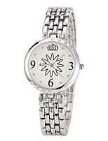 cheap -Women's Fashion Watch Quartz Casual Watch Alloy Band Minimalist Elegant White Gold