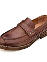 Недорогие -Муж. обувь Кожа Наппа Leather Весна Осень Удобная обувь Мокасины и Свитер для Повседневные Черный Кофейный