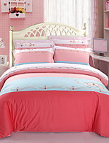 cheap -Duvet Cover Sets Floral Embellished&Embroidered 4 Piece Poly/Cotton 100% Cotton Printed Poly/Cotton 100% Cotton 1pc Duvet Cover 2pcs
