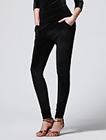 abordables -Danse latine Bas Femme Entraînement Utilisation Mousseline de Soie Velours Combinaison Taille moyenne Pantalon