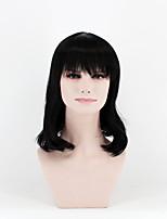 Недорогие -Парики из искусственных волос Волнистый плотность Без шапочки-основы Жен. Черный Парик из натуральных волос Длинные Искусственные волосы
