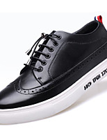 cheap -Men's Shoes Leather Spring Fall Comfort Sneakers for Casual White Black Gray