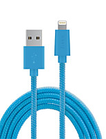 Недорогие -Подсветка Адаптер USB-кабеля Быстрая зарядка Высокая скорость Кабель Назначение iPhone 150 cm ПВХ