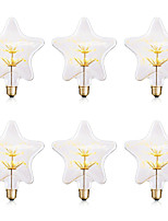 cheap -BRELONG® 6pcs 3W 300lm E26 / E27 Growing Lamp Growing Light Bulb LED Globe Bulbs 30 LED Beads SMD Starry Decorative Yellow 220-240V