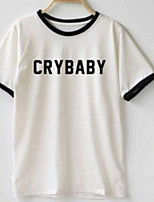 preiswerte -Damen Buchstabe-Street Schick T-shirt