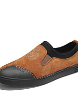 cheap -Men's Shoes Pigskin Spring Fall Comfort Loafers & Slip-Ons for Casual Office & Career Black Gray Brown