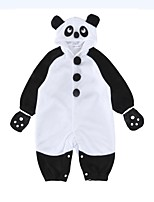 cheap -Baby Unisex Daily Holiday Color Block One-Pieces, Cotton Winter Fall Active Half Sleeves White