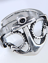 cheap -Men's Steampunk Anchor Band Ring - Anchor Steampunk Fashion European Silver Ring For Daily
