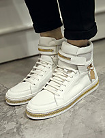 Недорогие -Муж. обувь Кожа Зима Удобная обувь Кеды для Повседневные Белый Черный