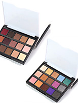 baratos -15pcs Sombra de olho Fofinho / Impermeável / Paleta Combinação / Secos / Normal Sombra para Olhos Pó Grossa Maquiagem Esfumada /