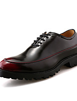cheap -Men's Shoes Synthetic Microfiber PU Spring Fall Formal Shoes Oxfords for Office & Career Party & Evening Black Silver Wine