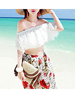 cheap -Women's Going out Holiday Boho Blouse Off Shoulder