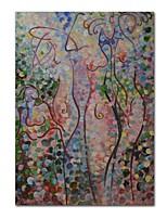 Недорогие -Hang-роспись маслом Ручная роспись Абстракция Вертикальная, Современный Modern холст Украшение дома 1 панель