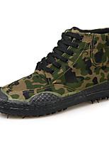 abordables -Homme Chaussures Toile Printemps Automne Confort Basket pour De plein air Gris Vert Véronèse