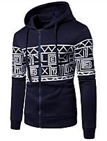 cheap -Men's Slim Hoodie - Geometric