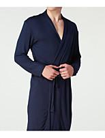 abordables -Uniformes & Tenues Chinoises Robe de chambre Vêtement de nuit Homme - Basique, Couleur Pleine
