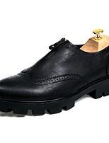 Недорогие -Муж. обувь Искусственное волокно Весна Осень Формальная обувь Мокасины и Свитер для Повседневные Офис и карьера Черный