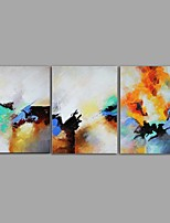 cheap -Oil Painting Hand Painted - Abstract Still Life Comtemporary Modern Canvas Three Panels