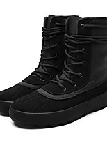 cheap -Men's Shoes Fabric Spring Fall Combat Boots Comfort Boots Mid-Calf Boots for Casual Black Khaki