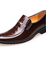 Недорогие -Муж. обувь Кожа Наппа Leather Весна Осень Удобная обувь Мокасины и Свитер для Повседневные Черный Коричневый