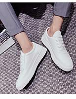 Недорогие -Муж. обувь Искусственное волокно Весна Осень Удобная обувь Кеды для Повседневные Белый