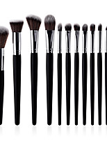 cheap -11pcs Powder Brush Lip Brush Blush Brush Makeup Brush Set Synthetic Hair Eco-friendly Soft Comfy Full Coverage Wooden Beech Wood Eye Face