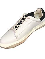 baratos -Homens sapatos Pele Primavera Outono Conforto Tênis para Casual Ao ar livre Branco Preto