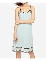 abordables -Satin & Soie Pyjamas Femme - Plissé, Couleur Pleine