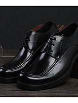 cheap -Men's Shoes Cowhide Nappa Leather Fall Winter Comfort Oxfords for Casual Black Burgundy