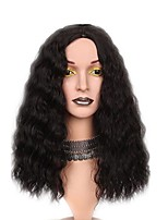 cheap -Synthetic Wig Kinky Curly Asymmetrical Haircut Layered Haircut Natural Hairline Black Women's Capless Halloween Wig Celebrity Wig Natural