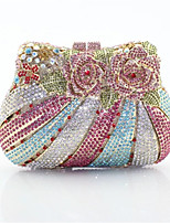 cheap -Women's Bags PU Metal Evening Bag Embroidery for Event/Party All Seasons Blushing Pink