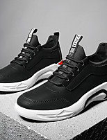 cheap -Men's Shoes Leatherette Tulle Winter Fall Comfort Sneakers Walking Shoes for Athletic Casual Black Gray Red