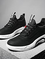 Недорогие -Муж. обувь Дерматин Тюль Зима Осень Удобная обувь Кеды Для прогулок для Атлетический Повседневные Черный Серый Красный