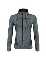 cheap -Women's Running Jacket Long Sleeves Breathability Top for Exercise & Fitness Polyester Black Purple Rose Red Green Blue S M L