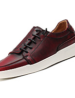 cheap -Men's Shoes Rubber Spring Comfort Sneakers for Outdoor Gray Brown Burgundy