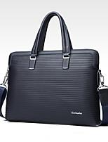 cheap -Men's Bags PU Tote Embossed for Formal Office & Career All Seasons Blue Black
