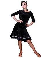 abordables -Danse latine Tutus & Jupes Femme Entraînement Velours Côtelé Polyamide Combinaison Taille moyenne Jupes