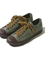 Недорогие -Муж. обувь Ткань Лето Удобная обувь Кеды для Повседневные Белый Зеленый Синий