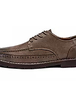 cheap -Men's Shoes Leatherette Spring Fall Comfort Oxfords for Casual Black Brown Dark Grey