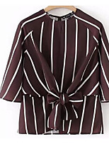 cheap -Women's Polyester Shirt - Striped