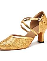 cheap -Women's Modern Sparkling Glitter Sandal Heel Professional Customized Heel Gold Customizable
