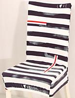 baratos -Moderna 100% Jacquard Poliéster Cobertura de Cadeira, Simples Listrado Estampado Capas de Sofa