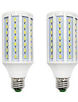 Недорогие -BRELONG® 2pcs 18W 1200 lm E14 E26/E27 B22 LED лампы типа Корн 84 светодиоды SMD 5730 Тёплый белый Белый 220-240V