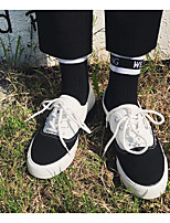 Недорогие -Муж. обувь Полотно Весна Осень Удобная обувь Кеды для Повседневные Черно-белый